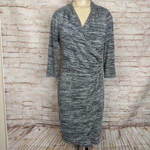 White House Black Market Surplice Sweater Dress